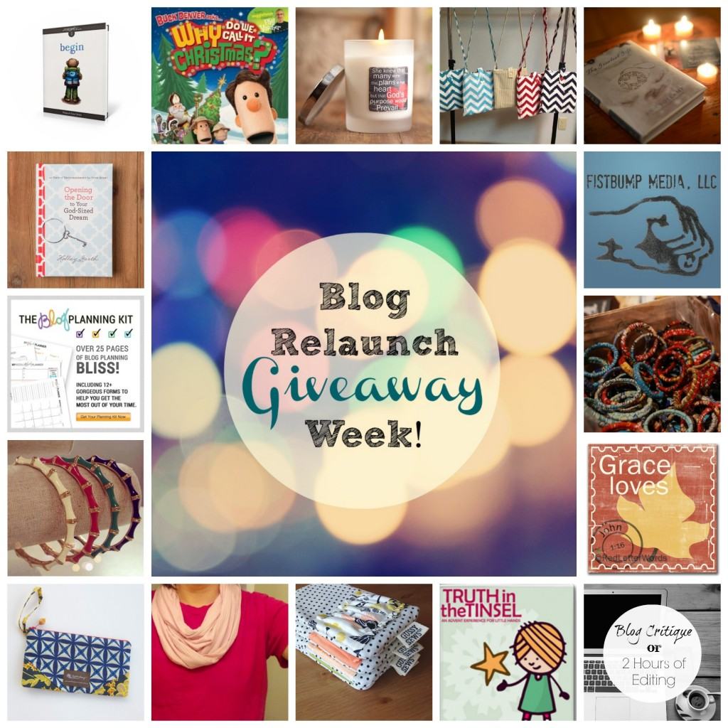 A week of blog relaunch giveaways at crystalstine.me!