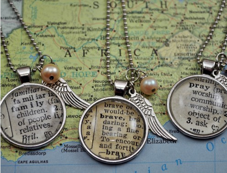"""""""Fall in Love with the World Next Door"""" Necklace   KraftyKash   Vintage Jewelry and Decor"""