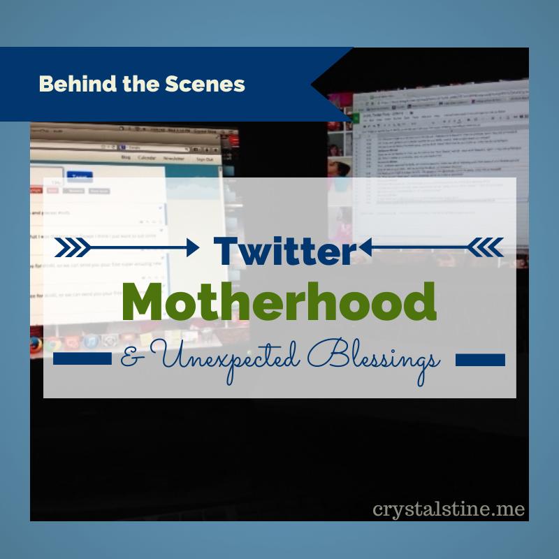 Behind the Scenes: #SurprisedbyMotherhood - Crystal Stine