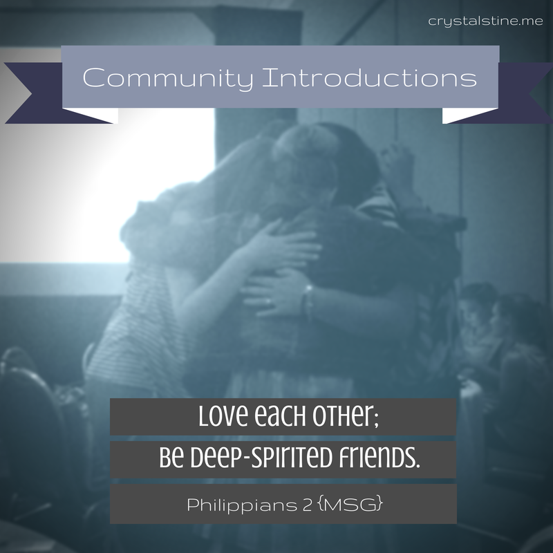 Community Introductions - crystalstine.me